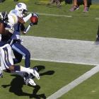 Tennessee Titans wide receiver Justin Hunter pulled down this game-winning touchdown pass on a 34-yard play.