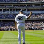 New York Yankees closer Mariano Rivera acknowledges the crowd as he takes the field for a pregame ceremony at Yankee Stadium on Sunday. The 13-time All-Star closer is retiring at the end of this season. WATCH NOW: Joe Torre on Mariano Rivera