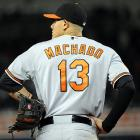 Baltimore Orioles third baseman Manny Machado is batting .239 with seven home runs and 17 RBI.
