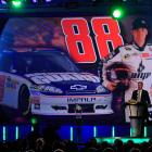 The audience got a double dose of Junior at the NASCAR Sprint Cup Series Champion's Week Awards Ceremony in Las Vegas.