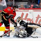 """A hip flexor injury ? and maybe a sense of entitlement -- derailed what should have been a dominant rookie season for the 13th overall pick in 2011. But Baertschi finished the year strong, tallying six points in his final seven games, and he's hoping that confidence from that hot streak, brushed with a touch of humility, will see him earn top-six minutes with the rebuilding Flames. However, Brian Burke, the team's fiery director of hockey ops, felt compelled to light a fire under the young winger by saying, """"Flashes of brilliance are fine if you're working in the university, but they're not much good to people in an NHL building."""""""