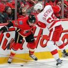 Last season's most prized college free agent stunned observers with his effortless transition to the NHL pace. Joining the Wings with 11 games left in the season, he assumed a shutdown role, playing a smart, calm style that stabilized a struggling blueline down the stretch. DeKeyser earned coach Mike Babcock's trust in the playoffs before breaking his thumb in Detroit's first round series vs. Anaheim. He only notched one assist, but brings a high skill level that should reveal itself as he plays top-four minutes this year.