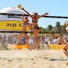 New teammates April Ross and Kerri Walsh-Jennings dominate in their first AVP tournament together. The pair never lost a set at the Santa Barbara Open.