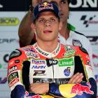 A mechanic and Honda MotoGP rider Stephan Bradl put motorcycle racing's dignity level on full display during a practice session for the Aragon Grand Prix at the Motorland racetrack in Alcaniz, Spain.