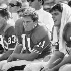 Florida quarterback Steve Spurrier watches from the bench during a game in September 1966.