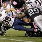 Playing in a game that many on the east coast didn't watch because it started at 11:35 p.m., Danny Woodhead turned this five-yard reception into a touchdown that stood up.