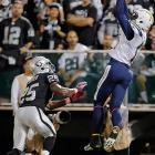 This catch by San Diego's Keenan Allen was originally ruled a touchdown, but was overturned upon review.
