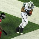 Kellen Winslow tapped both feet down in bounds in scoring this touchdown during New York's upset win in Atlanta.