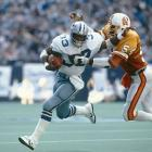 """The Buccaneers, still winless as a franchise, scored a combined six points in their first two games. You didn't have to be a Vegas bookmaker to know their fortunes weren't likely to change in Week 3 at Texas Stadium against Tony Dorsett's Cowboys (the eventual Super Bowl champs). Dallas led 17-0 by the end of the first quarter, though Bucs' linebacker Richard Wood made things interesting in the second when he scooped up a Dorsett fumble and ran 37 yards for a touchdown, cutting the deficit to 10. But the Cowboys tacked on two short field goals and won, 23-7. """"The only thing Tampa Bay has been able to beat is the spread,"""" <italics>St. Petersburg Times</italics> sports editor Hubert Mizell wrote in the next day's paper. """"Gambling America must love them."""""""