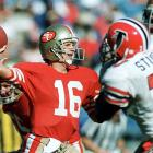 """NFL players might have been in the midst of a strike, but Joe Montana crossed the picket line, and Vegas set this line as a mismatch. Montana and 11 strikebreaking veterans -- including Dwight Clark, Roger Craig and Joe Cribbs -- returned to the 49ers' lineup in Week 4. They were heavy favorites against the replacement Falcons, who had just one regular on the roster: linebacker Tim Green. San Francisco stormed to a 20-0 halftime lead, outgaining the Falcons 261-56. The 49ers won 25-17. """"I think it was evident that they needed their veterans to win it,"""" Atlanta coach Marion Campbell told the AP after the game. """"Our replacement guys, I thought, played well against theirs, and could have won it if that would have been the case."""""""