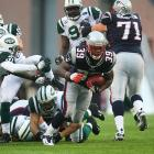 The undefeated Patriots had plenty to play for. It was the Spygate rematch and New England could lock up home field advantage through the playoffs. The Jets were 3-10, and just 1-5 on the road. On a cold, slushy day with wind gusts exceeding 20 mph, Tom Brady had his worst game of the season (14-for-27, 0 TD, 1 INT and a 51.5 rating). So New England relied on its running game, specifically Laurence Maroney, who rushed for 104 yards and a touchdown. The Patriots didn't cover the spread, but won 20-10.