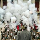 """Beer and a shot: Members of the mountain riflemen's association in Bavarian costumes fire by order of their commander during the traditional """"Boellerschiessen"""" (loosely translated as """"well-oiled ceremonial firing of a big gun"""") on the last day of the solemn Oktoberfest beer festival at Theresienwiese. For your information, the Munich Oktoberfest is the world's largest suds bash and it draws millions of visitors. For raw excitement, it's mighty hard to top a mix of hearty drinking, large crowds and heavy artillery."""