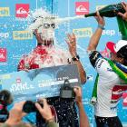 That bubbly feeling: Australia's Mick Fanning became the most decorated surfer in the history of the ASP tour's Quiksilver Pro France event when he deep-sixed Gabriel Medina of Brazil in the final.