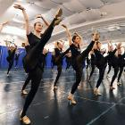 At New York City's Paul The Apostle Church, the famed hoofer troupe worked through their ritual punting drills for the 2013 Radio City Christmas Spectacular. If all goes according to plan, they should eb able to keep the audience pinned within its own 10 yard line for the duration of the show.