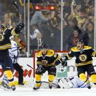 Is there anything more painful than blowing a three-goal lead in the third period of a Game 7? How about blowing a two-goal lead in the final 90 seconds, and eventually losing in overtime to end your season? The Maple Leafs managed to accomplish both in their season-ending loss to the Bruins in the first round of the 2013 Stanley Cup Playoffs. As if the moment couldn't get any more painful, there's this historic tidbit: According to the Elias Sports Bureau, Boston was the first team in NHL history to win a Game 7 after trailing by three goals in the third period.