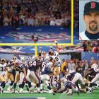 """When Menino began talking about great moments in Boston sports history during Orr's ceremony, at one point he said it was Red Sox catcher Jason Varitek (inset) who """"split the uprights"""" to help the New England Patriots win their first Super Bowl in 2002, when in fact he meant to say it was then-Patriots kicker Adam Vinatieri."""