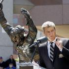 """In 2010, a ceremony was held to dedicate a statue to Hall of Fame Bruins defenseman Bobby Orr to celebrate what Menino referred to as Orr's """"ionic"""" goal to win the 1970 Stanley Cup."""