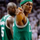 """...and Celtics point guard Rajon Rondo as """"Hondo."""" <italics>""""KJ is great but Hondo is really the inspiration. Hondo drives that team.""""</italics>"""