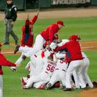 The Cardinals celebrate their 11th World Series title after defeating the Texas Rangers in Game 7.