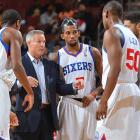 """The 76ers' own coach, Brett Brown, admitted before the season that his team has only """"six NBA players,"""" which makes the opening win over the Heat that much more impressive. But unless Michael-Carter Williams can flirt with a quadruple-double every night, this rebuilding team is unlikely to knock off too many contenders. Philadelphia has already said it will likely sit No. 6 pick Nerlens Noel the entire year, too."""