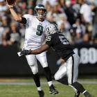 The Eagles' quarterback joined an historic collection of players in Week 9 of the 2013 season (Nov. 3), tying the NFL record with seven touchdown passes in a 49-20 blowout victory at Oakland. Remarkably, Foles finished the day with fewer incompletions (six) than he had touchdown passes, something no other QB tied for the single-game record can claim. Of the seven quarterbacks -- spanning 70 years -- who have achieved the rare feat, Foles was actually the second quarterback to do so this season...