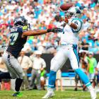 The Panthers defense looks legit, allowing just 13.2 points per game. Cam Newton is playing like Cam Newton again. However, their second-half schedule is brutal, featuring two games with the Saints and single matchups at the 49ers, home vs. the Patriots and at the Dolphins. They've already lost twice on the road: at Buffalo and Arizona, not exactly an impressive resume for a team that would likely have to win at least one road playoff game to keep its dream alive. <italics>All stats through Nov. 5</italics>