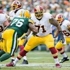 One total sack allowed against Clay Matthews, DeMarcus Ware, Julius Peppers and Von Miller.