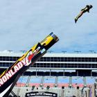 All guns were blazing at Texas Motor Speedway as the Cannonlady gave it a shot before NASCAR's Texas 500 in Fort Worth, which is always made us wonder: what's a fort worth? Just askin'...