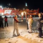 """One reason the polar ice caps are melting is that for the first time in history the Olympic flame was brought to the North Pole, home of Santa's workshop, by the nuclear-powered icebreaker 50 Let Pobedy (roughly translated as """"50 Years of Victory"""") as part of the relay to the 2014 Sochi Winter Games. The resulting heat caused sea levels to rise in New York City by 12 feet."""