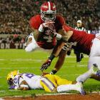 Alabama running back T.J. Yeldon scores a touchdown against LSU.