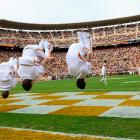 Flipping out at Neyland Stadium in legendary Knoxville, Tennessee.