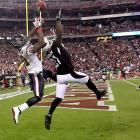 Texans receiver Andre Johnson makes a TD catch over Cards Patrick Peterson.