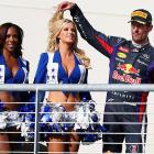 A hair-raising time on the podium, courtesy of Red Bull Racing's third-place finisher in Formula One's U.S. Grand Prix in Austin, TX.