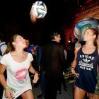Continuing with more notable cups from the world of sports, these enchanting Brazilian synchronized swimmers obviously had a ball at the adidas Brazuca launch in Rio de Janeiro. Brazuca, by the way, is the Official Match Ball -- strike it and it catches fire -- for the FIFA World Cup 2014 that will be held in Brazil.
