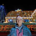 Here's an electrifying shot of Rolf Vogt in front of his domicile, which is bedecked with more than 450,000 Christmas lights. Herr Vogt hath been decorating this shack in Buecken, near Nienburg, Germany since 2000, attracting thousands of gawkers each year. The neighbors must be thrilled.