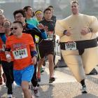 Sumo to believe in among the 30,00 runners who took part in the annual event.