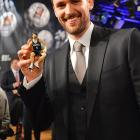 Love used a Ricky Rubio figurine as his good-luck charm while representing the Timberwolves at the 2013 draft lottery.
