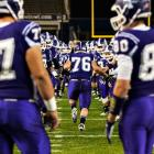 Tottenville defensive tackle Paul Sciascia (76) is introduced to the crowd during pregame ceremonies of the PSAL 2013 Championship Game played between Abraham Lincoln High of Brooklyn and Tottenville High at Yankee Stadium on Dec. 10. The Abraham Lincoln Railsplitters won 28-27.