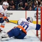 It isn't as if the Islanders have much better options, but Nabokov (5-5-4; 3.13; .896) isn't helping the team's cause as its noticeably aging 38-year-old No. 1 goalie. After a strong 2013 season and respectable first-round showing against the Penguins last spring, the Islanders have fallen fast and hard. Considering that Nabokov is just eight months removed from a solid season (23-11-7; 2.50; .910), his decline and time on injured reserve with a groin injury are key reasons why the Isles are destined for an early summer vacation. -- <italics>Brian Cazeneuve</italics> <bold>Ten Best NHL Player Surprises</bold>