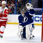 """With sniper Steven Stamkos (broken leg) out of the lineup, the Bolts had to keep their goals-against totals down, especially after last season when they finished 26th in the league in that category. Bishop, the NHL's tallest goalie at 6'-7"""", has come up big. His career mark was 18-17 after parts of five seasons, but he's off to a 17-5 start with a 1.97 GAA. His teammates describe him as a confident communicator who assertively directs traffic and barks out instructions for his defensemen. Judging by Tampa Bay's improved record (19-11-3) and 11th-ranked defense (2.39 GAA), Bishop's troops have been marching in step. -- <italics>Brian Cazeneuve</italics> <bold>The 10 Worst NHL Player Surprises</bold>"""