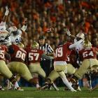 Seminoles kicker Roberto Aguayo nailed two field goals during the game.