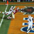 Auburn defensive back Chris Davis was penalized for pass interference late in the fourth quarter. The penalty placed the ball on the Tigers two-yard line, and the 'Noles scored on the next play.