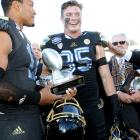 """The senior ended his Bruins' career with a flourish: 10 tackles and an interception in UCLA's 42-12 Sun Bowl rout of Virginia Tech. Zumwalt earned co-MVP honors, and coach Jim Mora told reporters later, """"I thought he played the best game I have ever seen him play."""""""