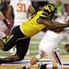 The Tigers star closed out his college career with six tackles, two sacks and a pass breakup in a 41-31 Cotton Bowl win over Oklahoma State. Ealy almost single-handedly forced a Cowboys punt in the second quarter, sacking quarterback Clint Chelf on consecutive second- and third-down plays.