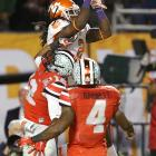 In an Orange Bowl full of offensive fireworks, Watkins shone brightest. He caught 16 passes for 227 yards and two touchdowns to help the Tigers beat Ohio State 40-35. How dominant was he? Watkins broke the Orange Bowl record for receiving yards in the third quarter.