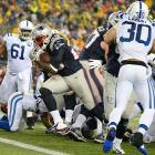 LeGarrette Blount was virtually unstoppable against the Colts, scoring four touchdowns to help the Patriots reach the AFC Championship Game.