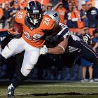 Montee Ball is headed to the Super Bowl in his rookie season. He helped the Broncos cause by running for 43 yards and catching three passes for 13.