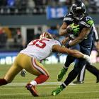 Marshawn Lynch's 40-yard touchdown forged a 10-10 on a day when he ran for 109 yards on 22 carries.