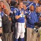 To reach Miami, the Colts topped the Ravens and the Jets, two of the league's better defenses. Manning (pictured here with head coach Jim Caldwell) had played well in both games, compiling five passing touchdowns.