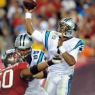 In 2013 we watched Cam Newton go from a talented quarterback to full-blown MVP candidate. Newton guided the Panthers to a 12-4 record, without many offensive weapons outside of veteran receiver Steve Smith. He showed remarkable maturity, learning to stay in the pocket unless it was absolutely necessary to scramble. He completed a career-high 61.7 percent of his passes and was at the helm of four game-winning drives. Statistics don't always translate into victories, and Newton proved that in 2013. He threw for a career-low 3,379 yards but the Panthers finished above .500 for the first time in Newton's tenure.